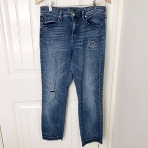 Mossimo High Rise Straight Power Stretch Jeans